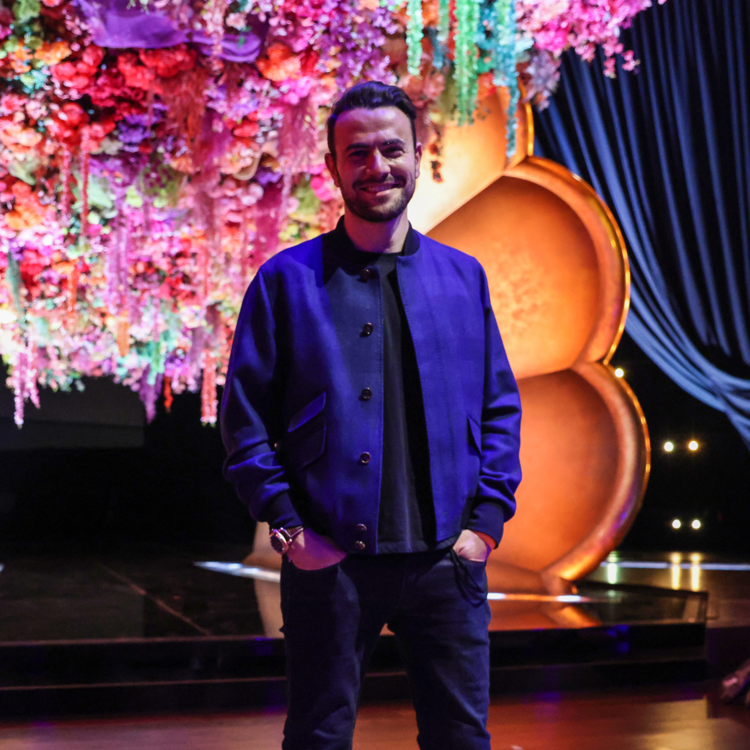 **PHOTOS EMBARGOED PRIOR TO GRAMMYS TELECAST. DO NOT PUBLISH BEFORE 3/14/2021Los Angeles, CA, Thursday, March 11, 2021 - Grammy Executive Producer Ben Winston on set during a pre-taped segment for the 63rd Grammys at the LA Convention Center. (Robert Gauthier/Los Angeles Times via Getty Images)