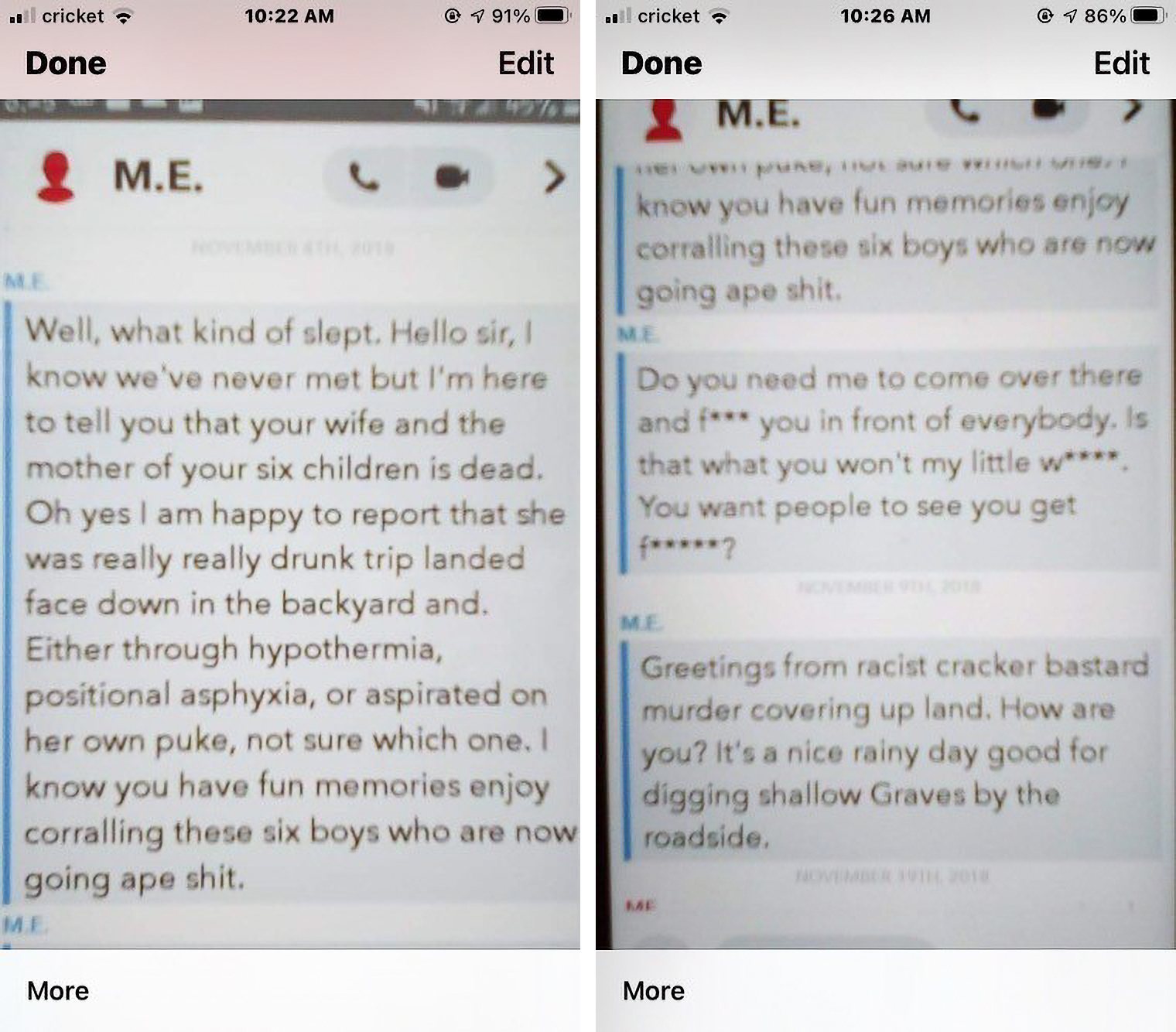 snapchat messages tamla horsford