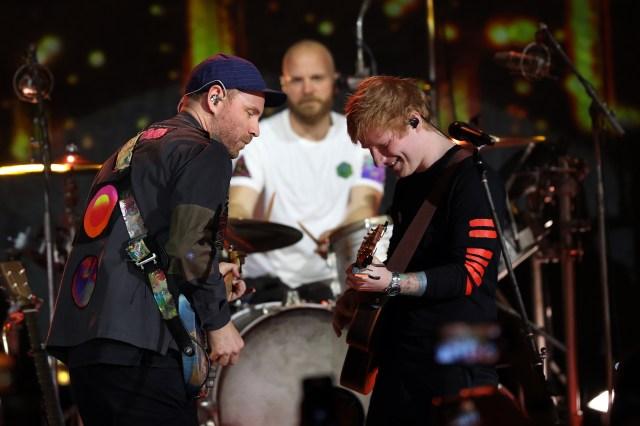Watch Ed Sheeran Join Coldplay for 'Fix You,' 'Shivers'.jpg