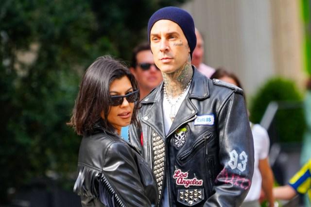 Travis Barker and Kourtney Kardashian Dress Up as Famously Stable Couple Sid and Nancy.jpg