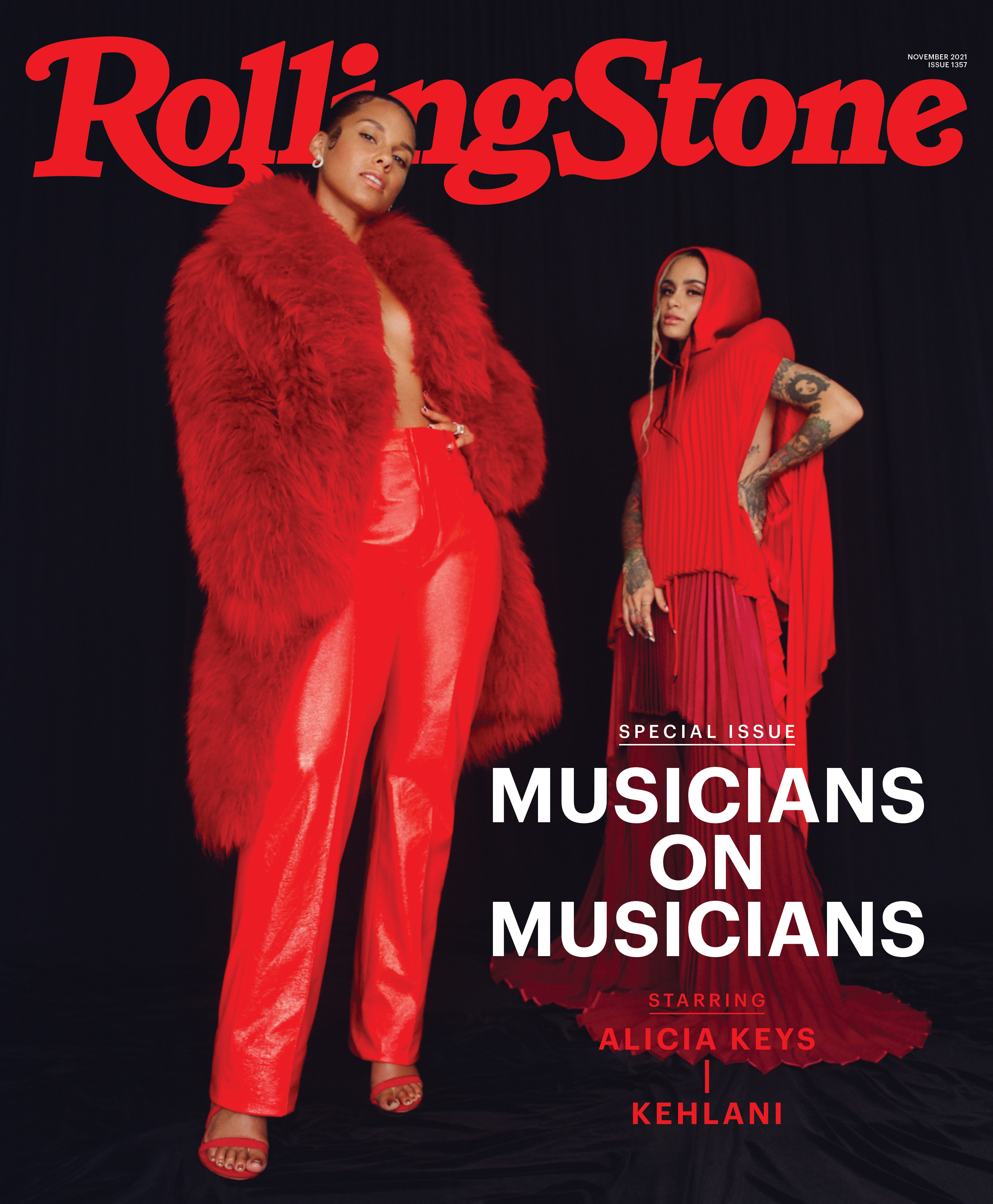 Alicia Keys & Kehlani photographed exclusively for Rolling Stone's Musicians on Musician's 2021 portfolio in Los Angeles CA on August 31st 2021 by Kanya Iwana