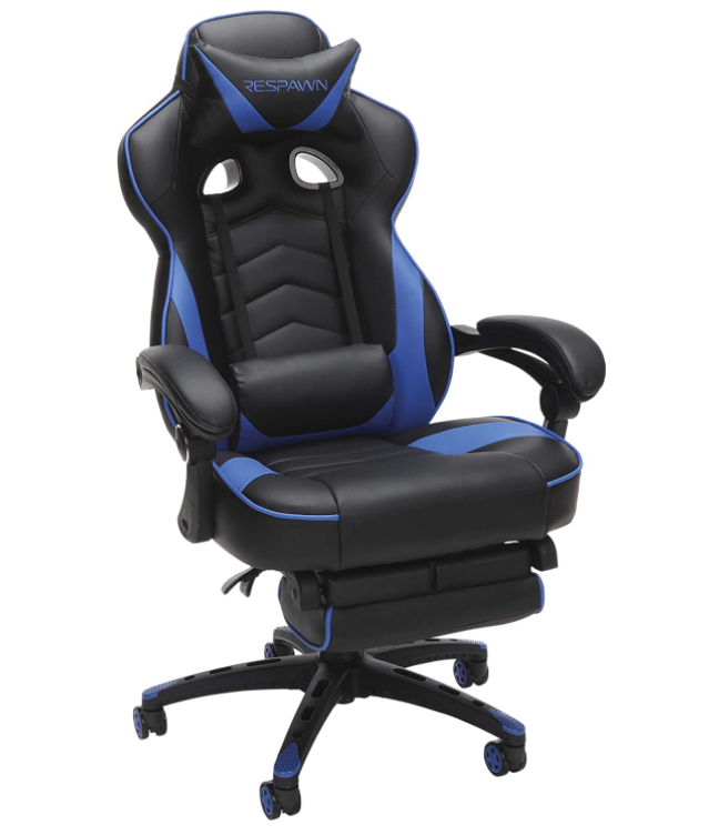 RESPAWN RSP-110 Racing Style Gaming, Reclining Ergonomic Chair with Footrest