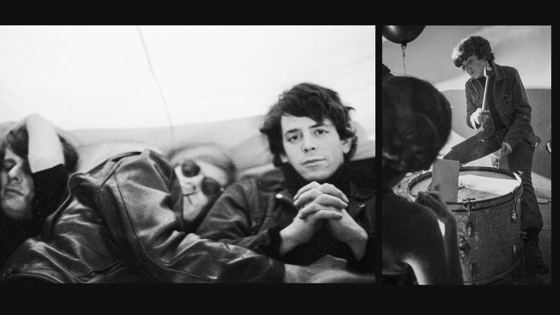 Paul Morrissey, Andy Warhol, Lou Reed and Moe Tucker velvet underground documentary