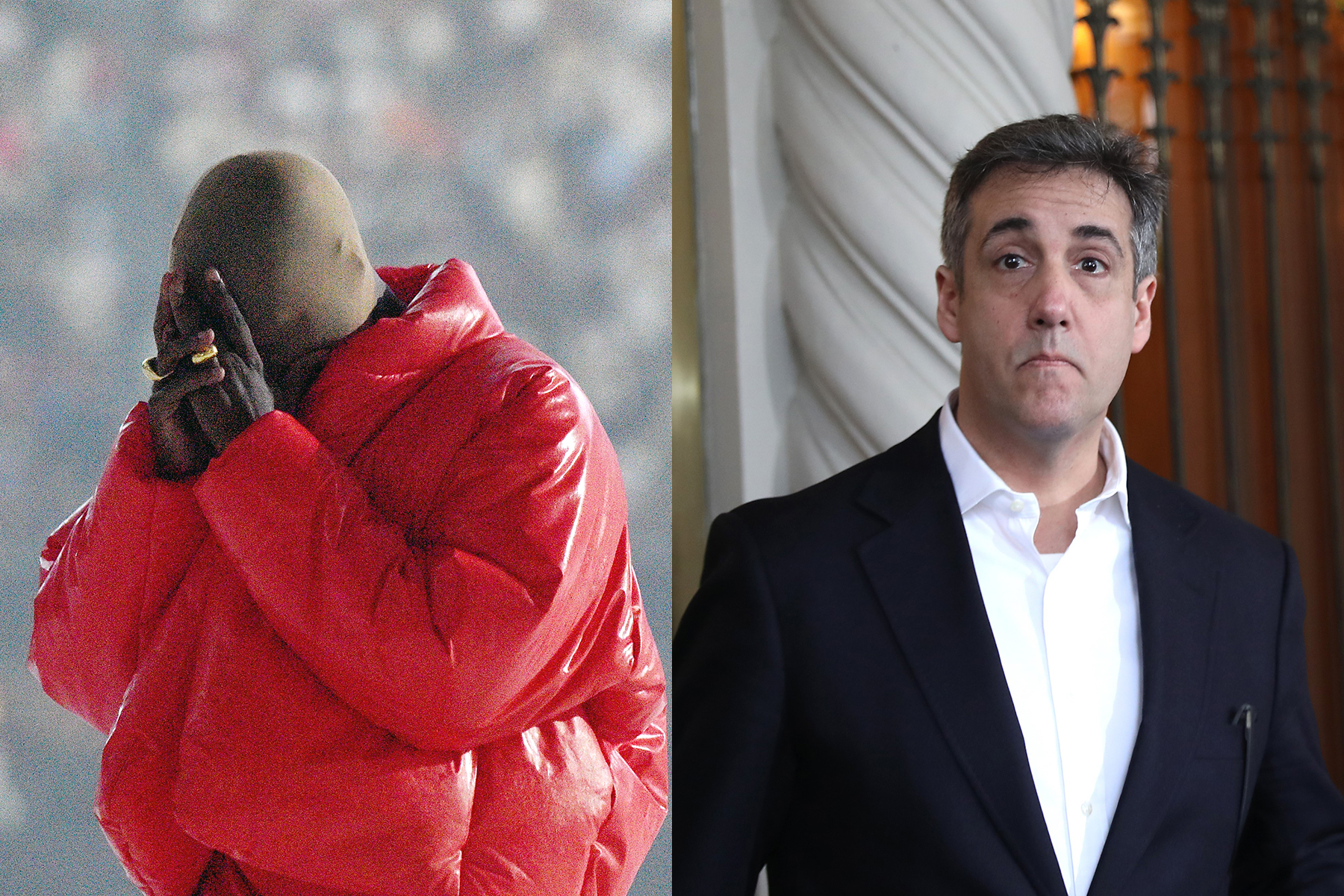 Kanye West Wore a Weird Mask While Getting Coffee With Michael Cohen