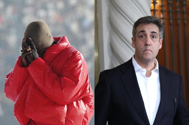 Kanye West Donned a Creepy White Mask to Have Coffee With Former Trump Fixer Michael Cohen.jpg