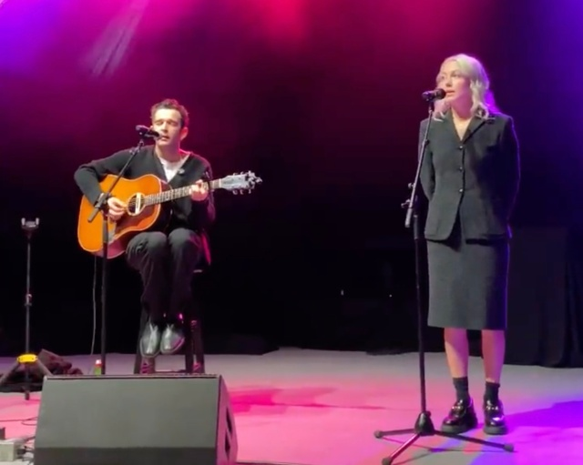 Watch Phoebe Bridgers, the 1975's Matty Healy Perform 'Jesus Christ 2005 God Bless America' for First Time.jpg