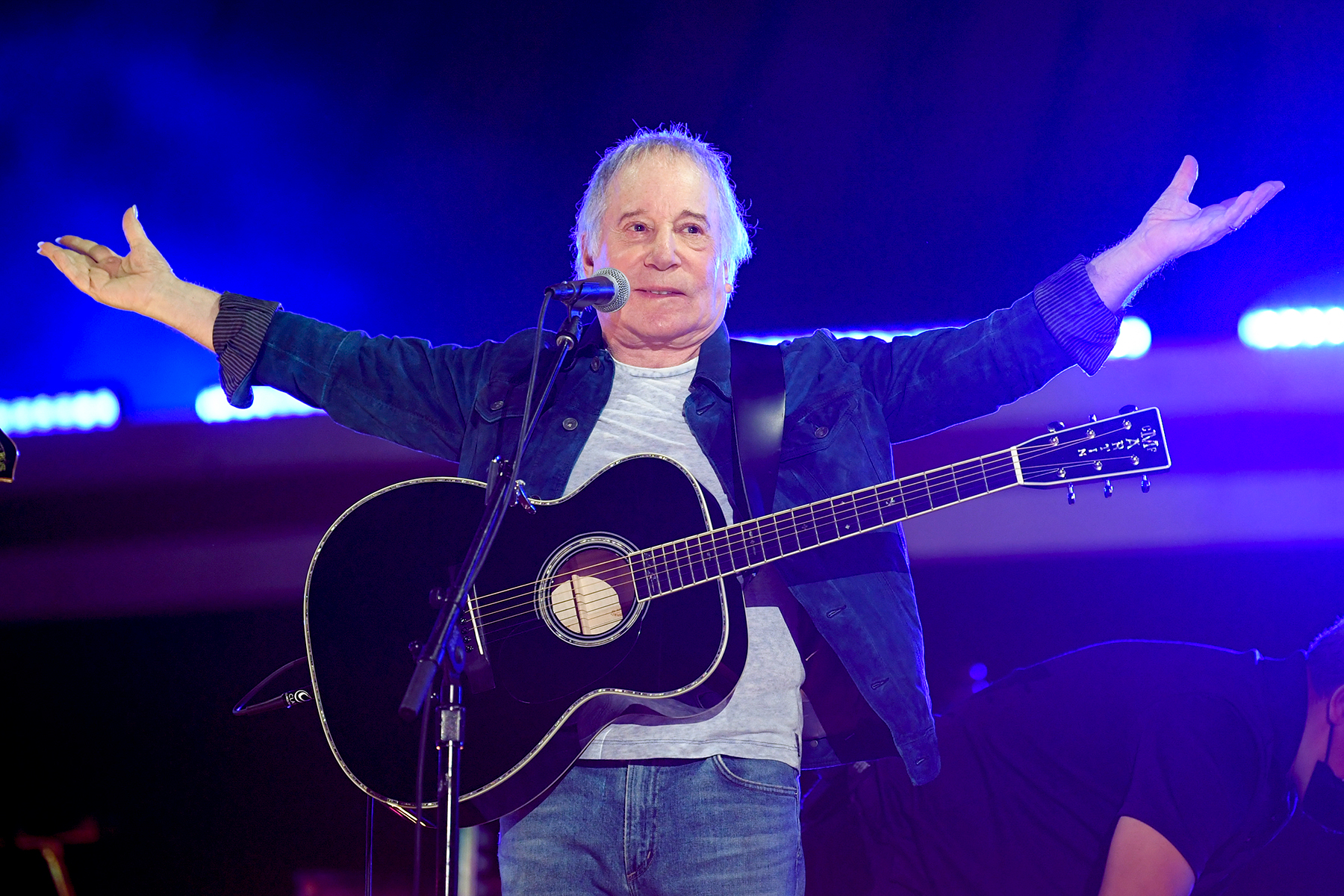 Singer-songwriter Paul Simon performs at Global Citizen Live in Central Park on Saturday, Sept. 25, 2021, in New York. (Photo by Evan Agostini/Invision/AP)