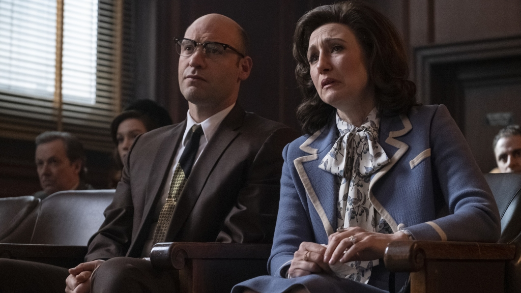 """Caption: (L-r) COREY STOLL as Junior Soprano and VERA FARMIGA as Livia Soprano in New Line Cinema and Home Box Office's mob drama """"THE MANY SAINTS OF NEWARK,"""" a Warner Bros. Pictures release."""